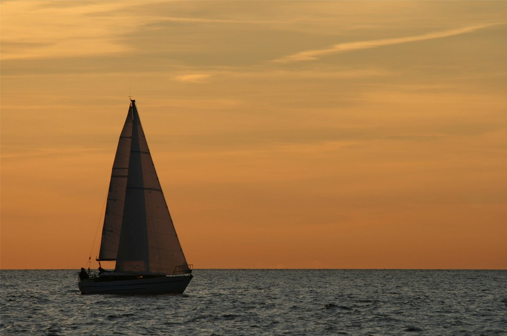 Segelboot in Pastell