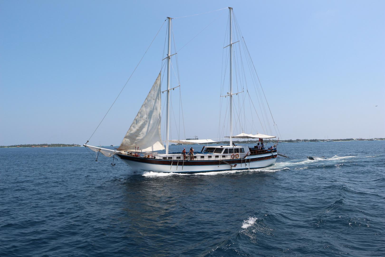 Segelboot. Malediven