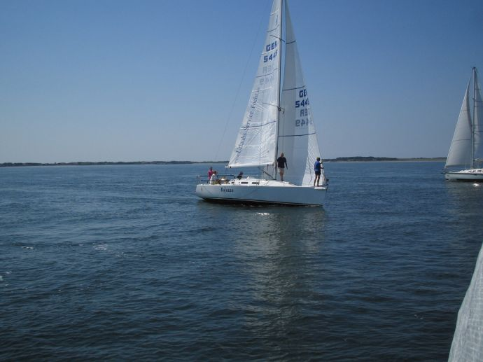Segelboot vor Amrum