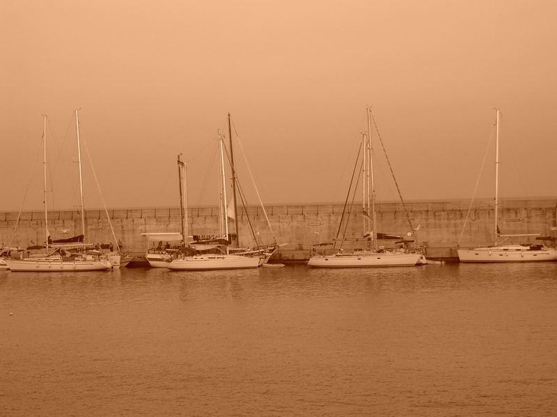 Segelboote am Hafen von Mallorca