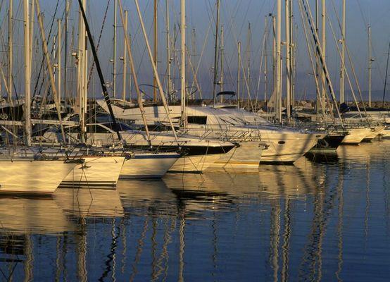 Segelboote im Hafen von Le Lavandou