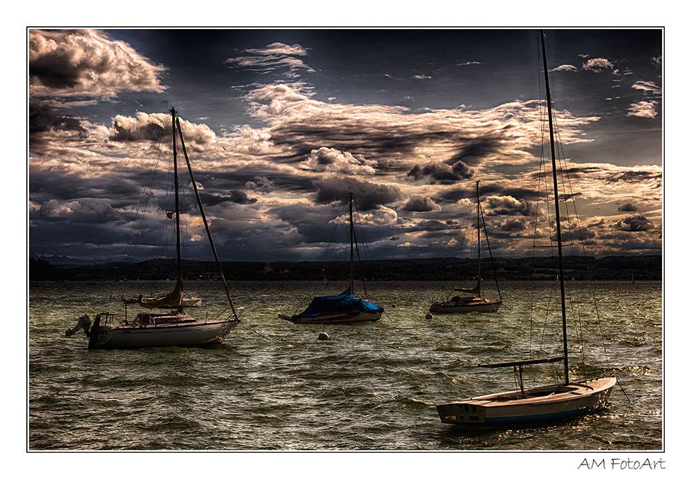Segelboote im Starnberger See
