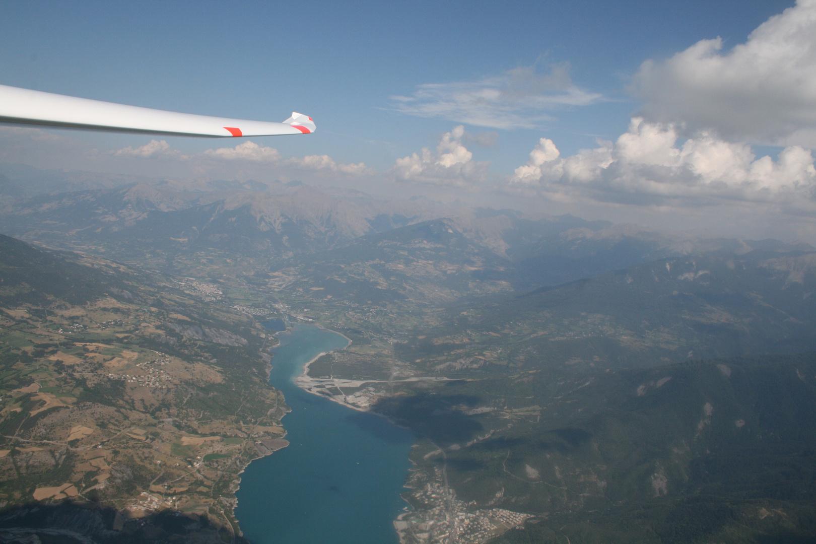 Segelfliegen in den Bergen Südfrankreich