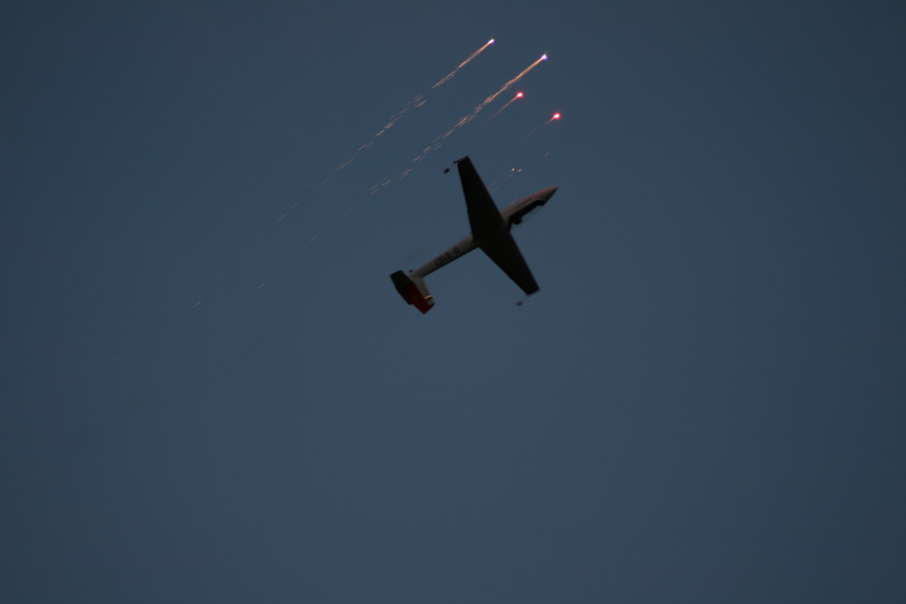 Segelkunstflug mit Raketen