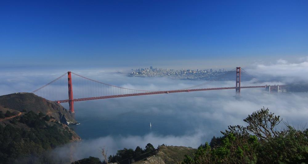 Segeln im Nebel - Golden Gate