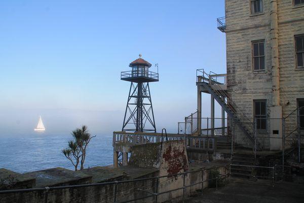 Segelromantik aus Sicht von Alcatraz