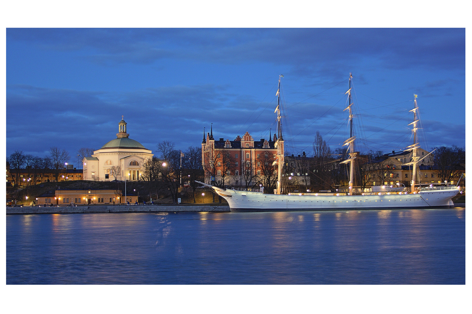 Segelschiff in Stockholm