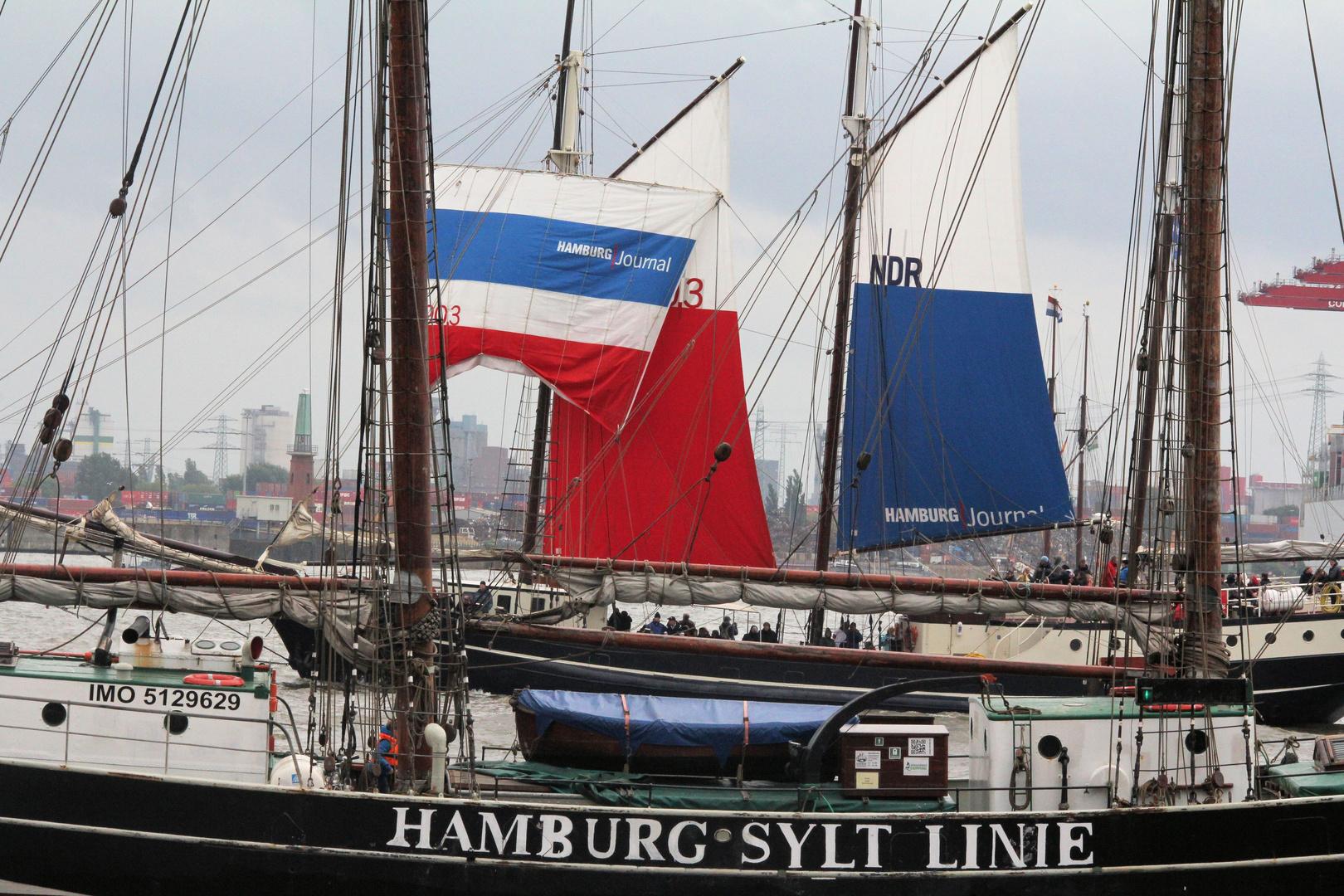 Segelschiffe auf dem Hamburger Hafengeburtstag 825