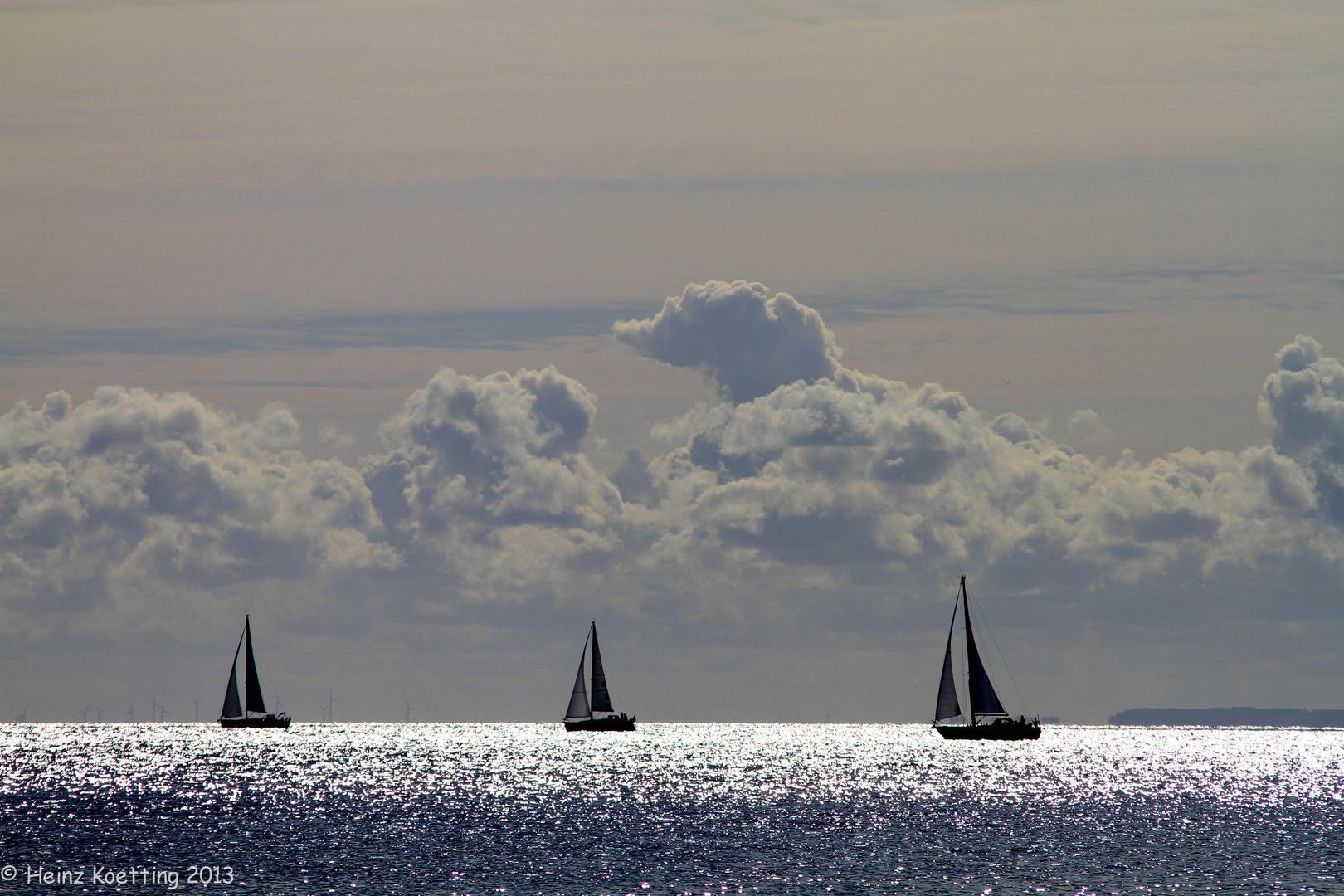 Segelschiffe auf der Ostsee