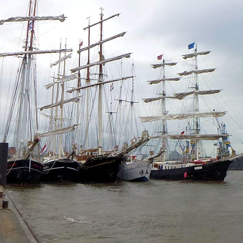 """""""Segelschiffkuscheln"""" auf dem 825. Hamburger Hafengeburtstag"""