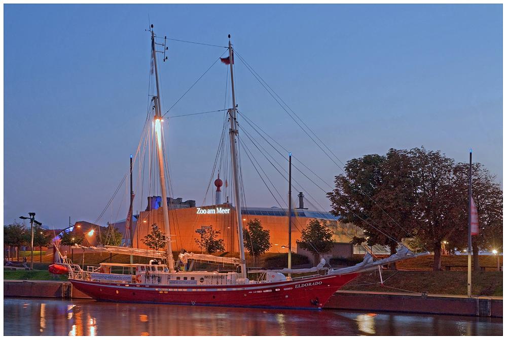 """""""Seglerromantik im Hafen"""" die ELDORADO in Bremerhaven am 12.9.2014"""
