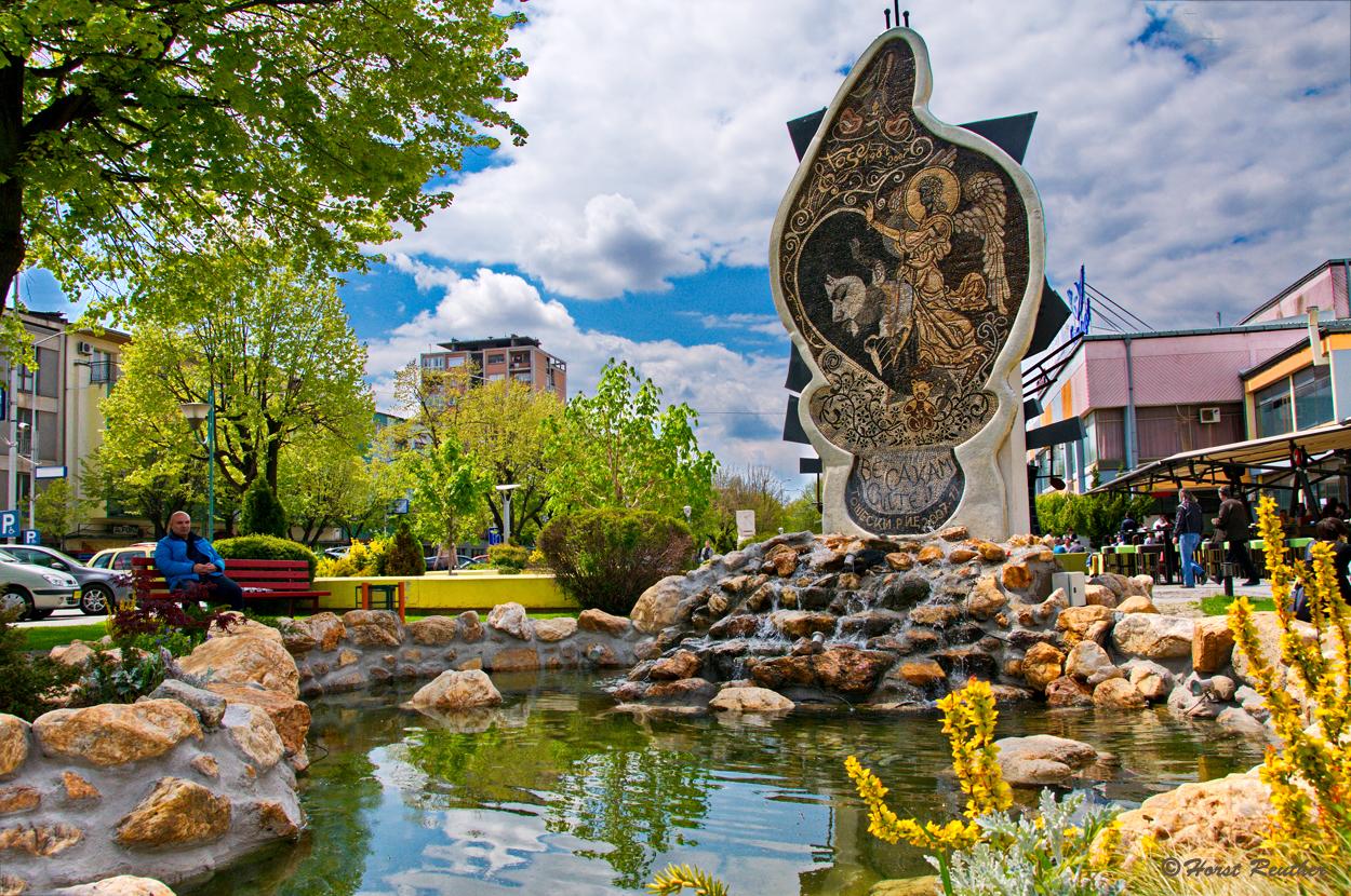 Sehenswertes Denkmal in Skopje/Macedonia
