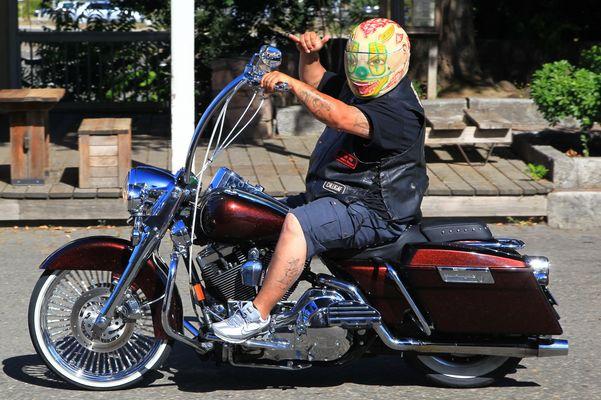 Sehr spezieller Helm