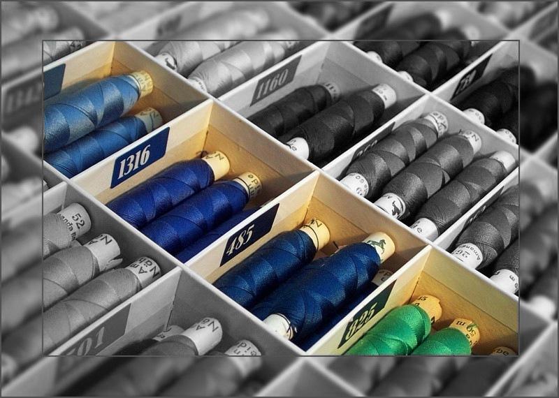 Seide bringt die Farben zum Leuchten...