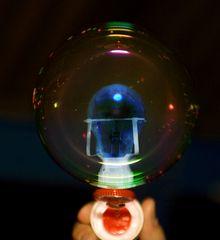 Seifenblase mit Licht