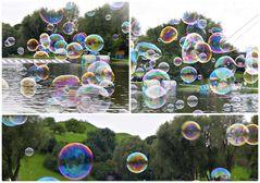 Seifenblasen beim Sommerfest