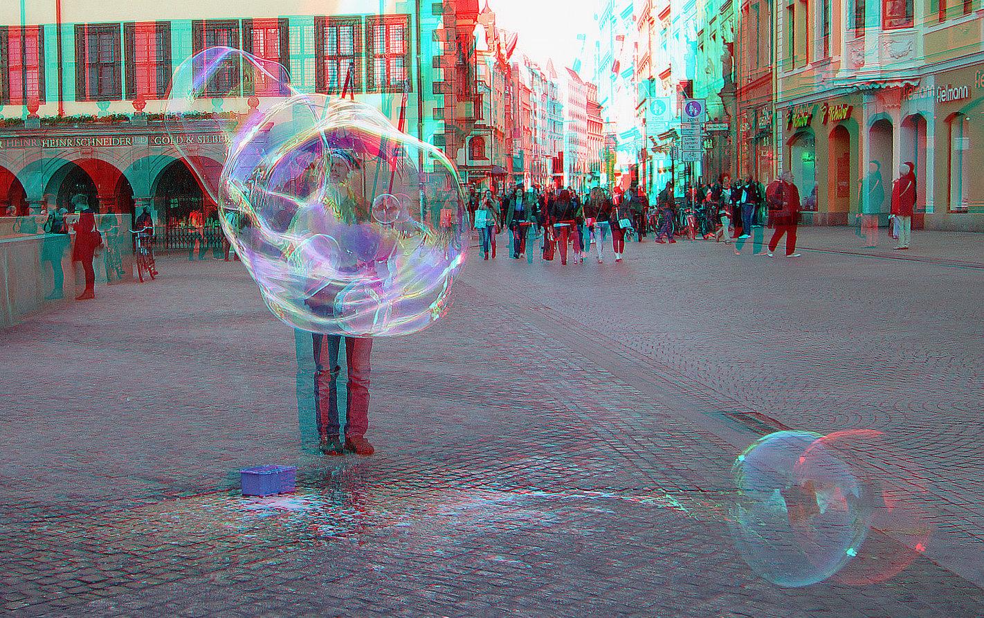 Seifenblasenmann (3D-Foto)