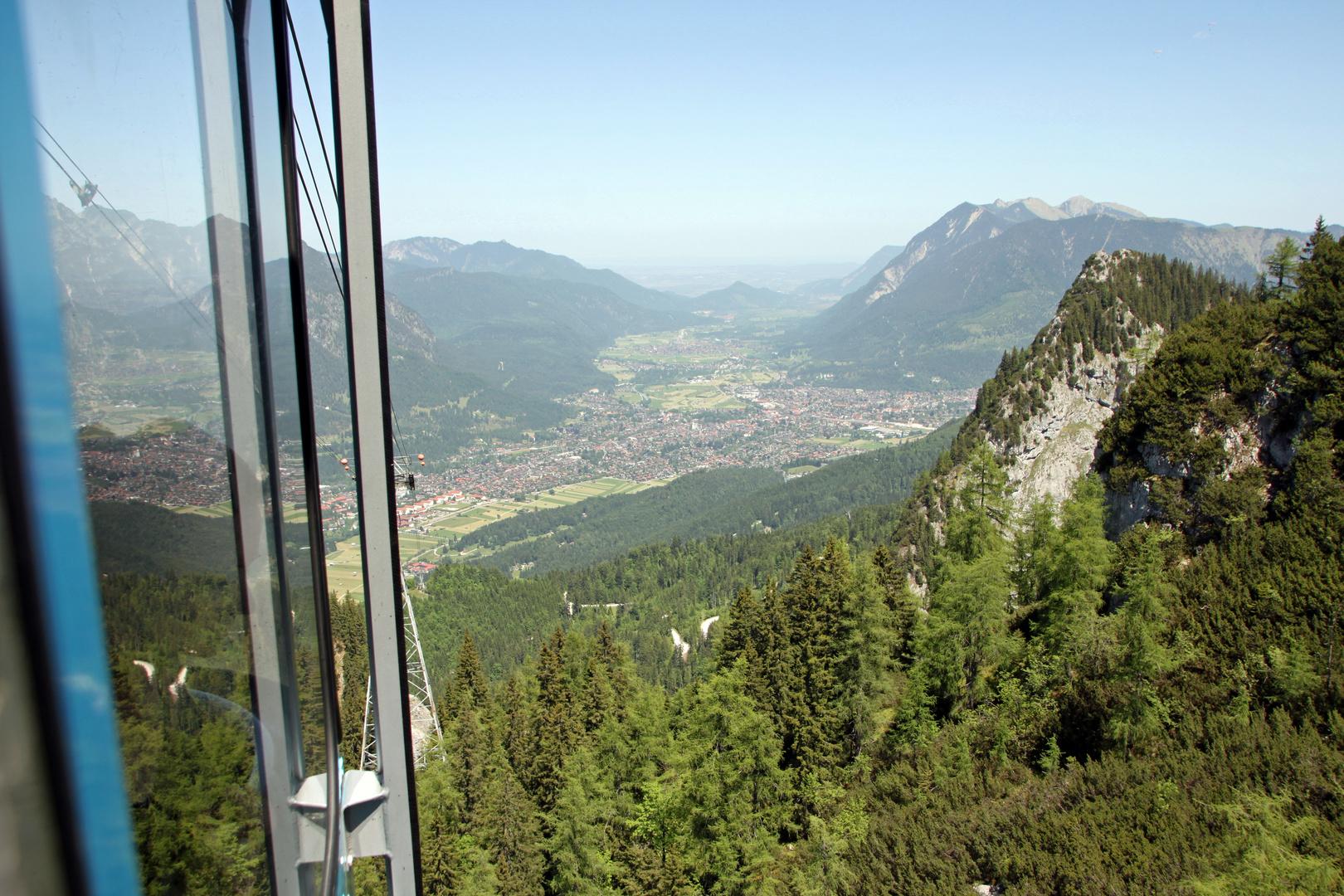 Seilbahnfahrt von Garmisch-Partenkirchen