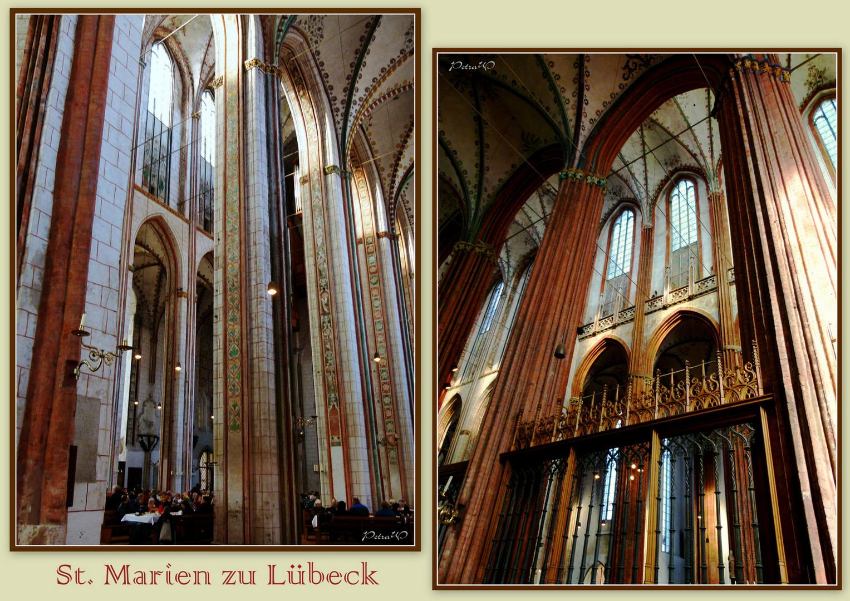 Seitenansichten in St. Marien zu Lübeck
