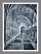 Seitengang in der Kathedrale von Gloucester