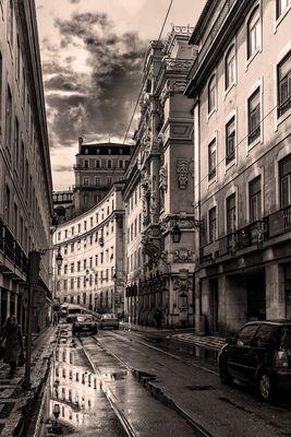 Seitenstraße Lissabon (Tonung)