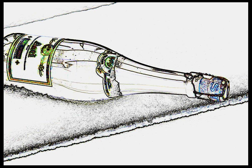 Sektflasche vom Silvester