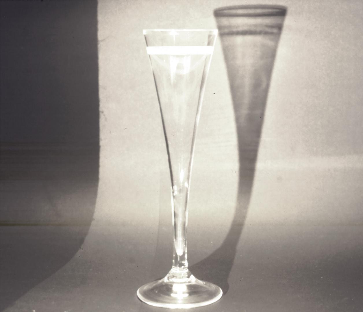 Sektglas im Licht