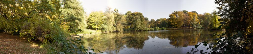 selber See in einem Panorama