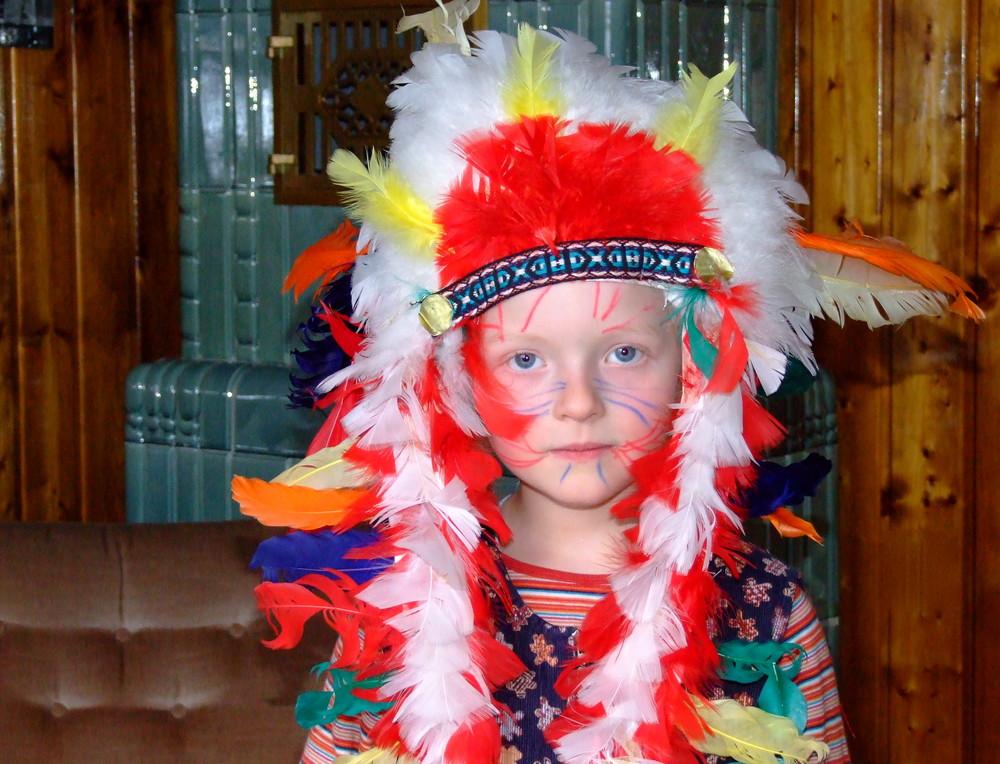 Selbst bemalt***Oberindianer Flipsky, einen Tag vorm 5.Geburtstag***