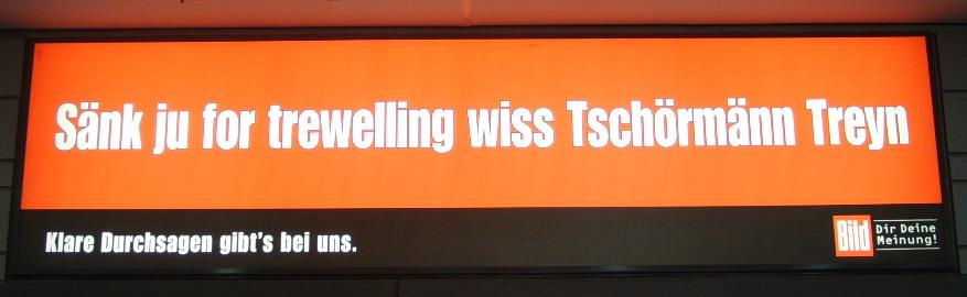 Selbstironie am Hauptbahnhof