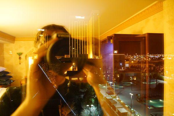 Selbstporträt im Hotelzimmer in Las Vegas