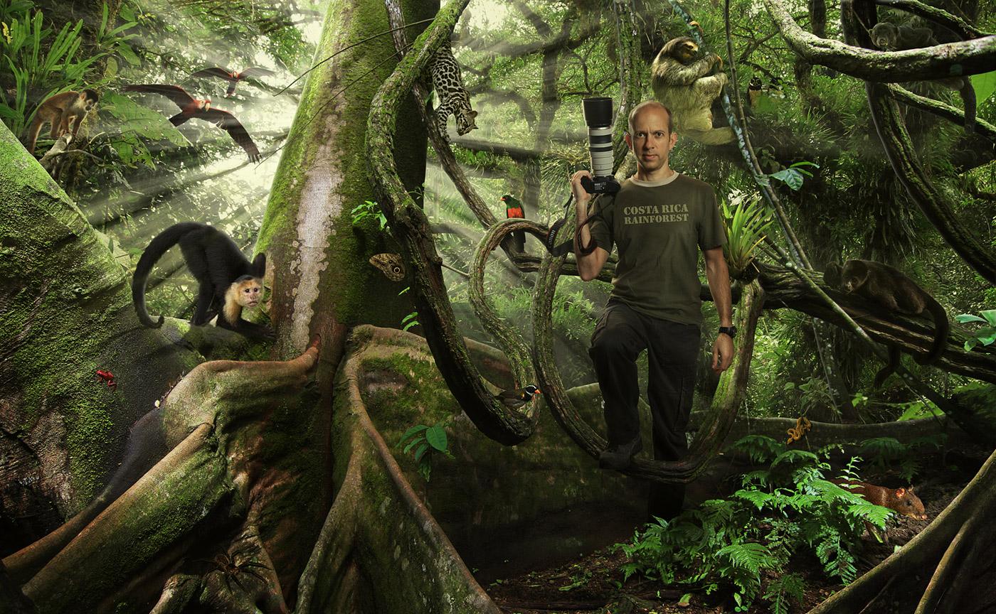 Selbstportrait - Als Fotograf im Urwald Costa Rica's