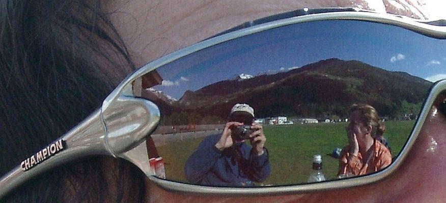 Selbstportrait am Landeplatz von Sand in Taufers im Ahrntal