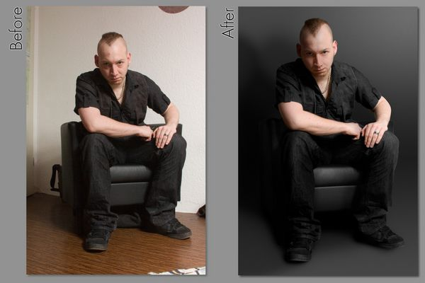 Selbstportrait Before and After