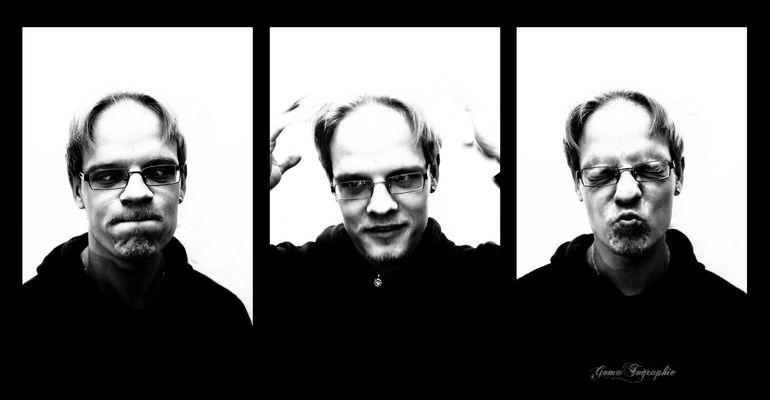 Selbstportrait Collage - Gesichtsmimik