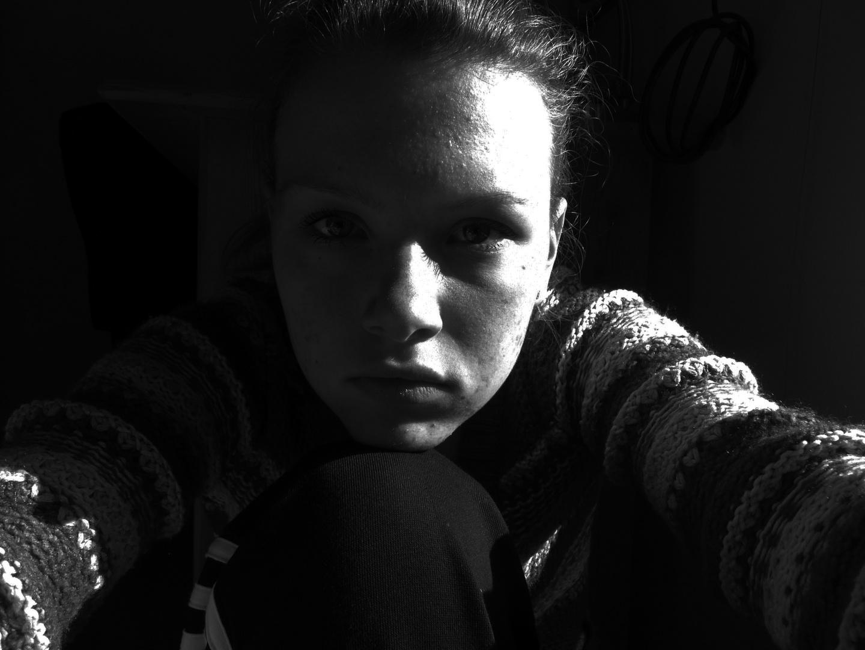 Selbstportrait Schwarz-Weiß