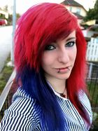 Self Shot - Red and Blue <3