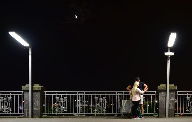 Selfie bei Mondschein