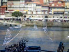 Selfie mit Gläsern und Porto