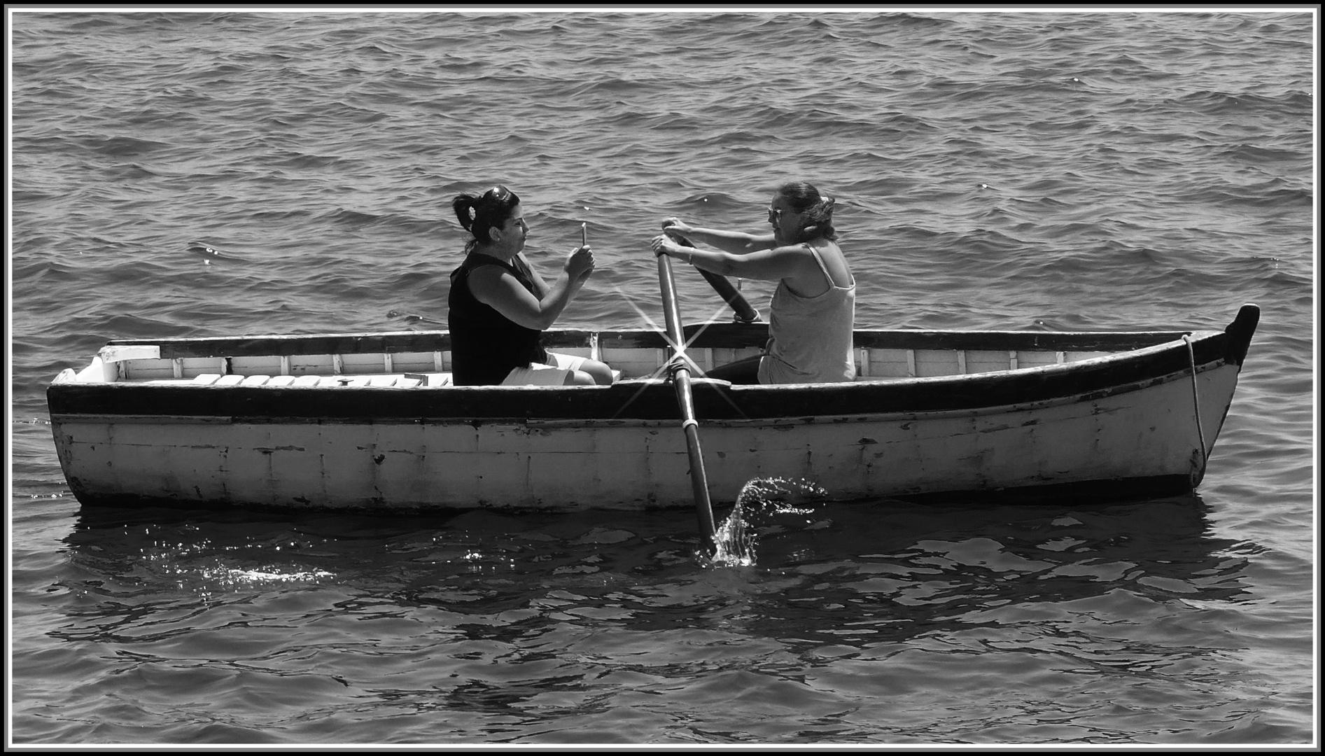 Selfie on the sea