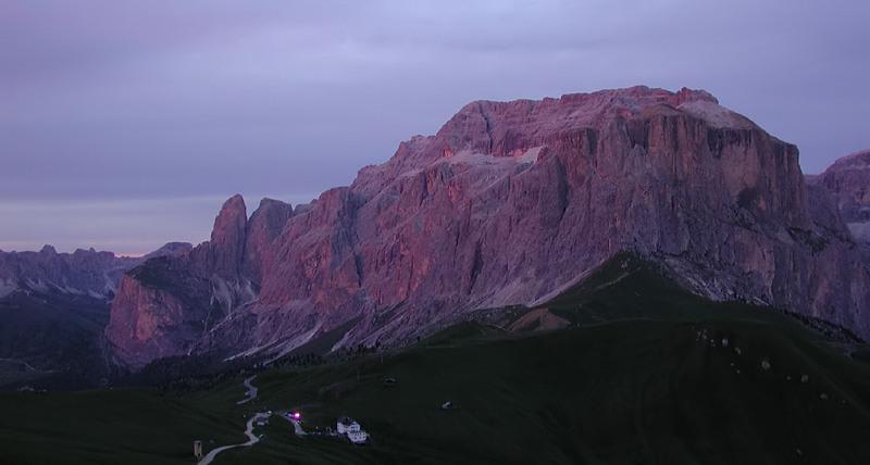 Sellagruppe nach Sonnenuntergang