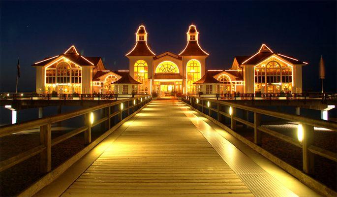 Selliner Seebrücke bei Nacht die 2the