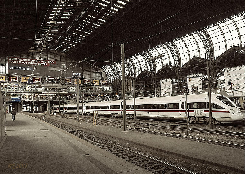 Seltene Menschenleere am Hamburger Haupbahnhof