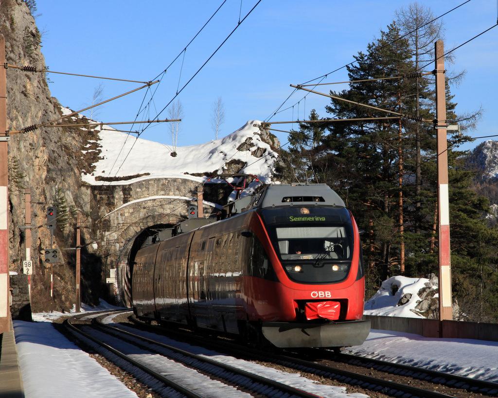 Semmeringbahn und Semmeringwetter !!