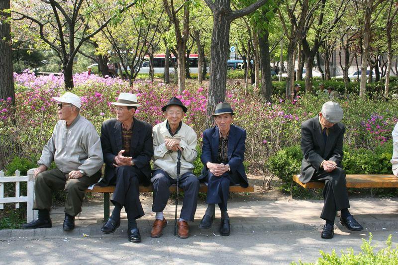 Senioren in Seoul