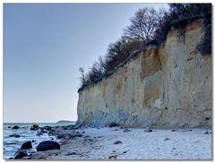 Senkrechtes Kliff bei Lobbe