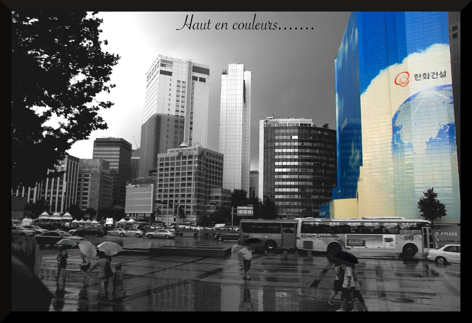 Seoul haut en couleur......