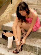 Sephora puts on her Cesare Paciotti High Heels