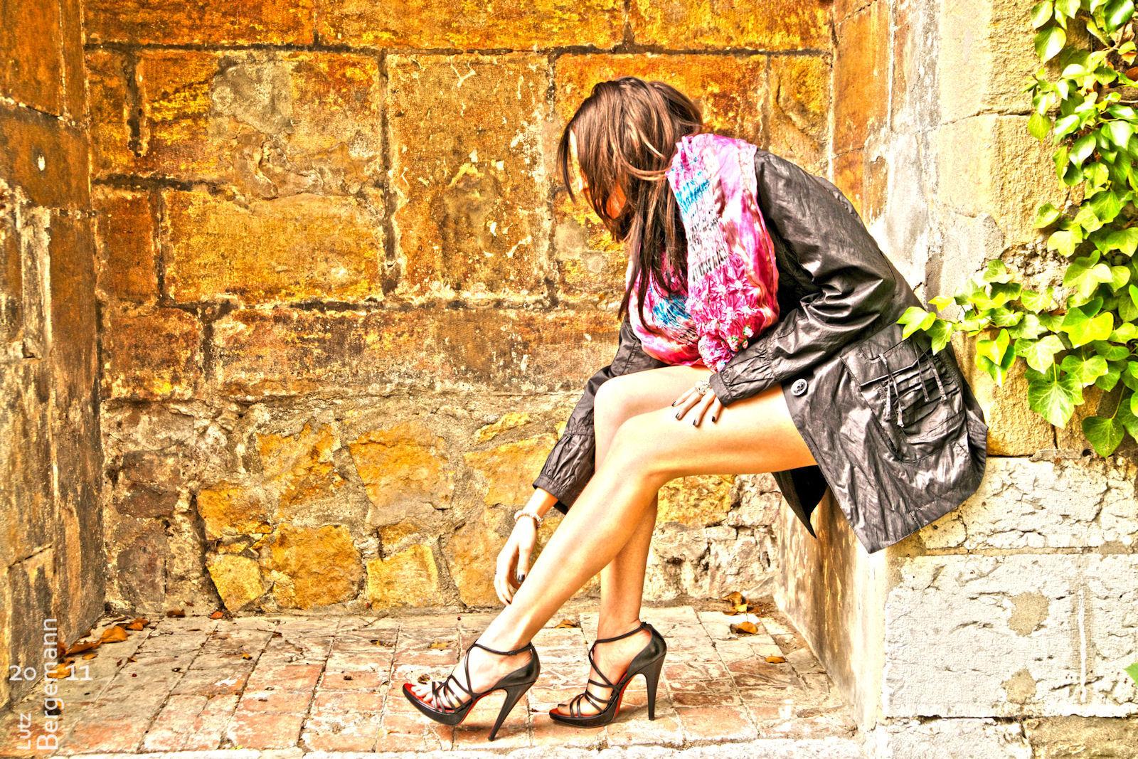 Sephora showing her legs and Heels