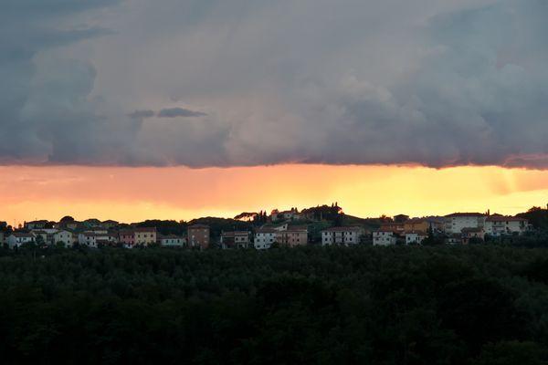 Septemberabend in der Toskana ...